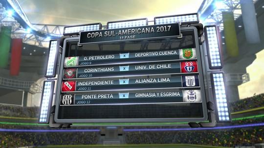 Brasileiros conhecem primeiros rivais na Sul-Americana; veja os confrontos