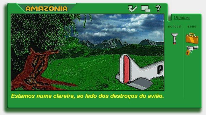 Imagem do jogo Amazônia, de Degiovani, no MSX (Foto: Divulgação)