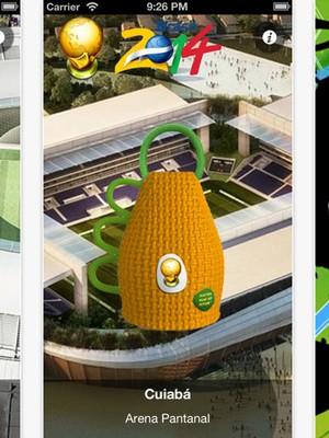 No Caxirola 2014, aplicativo da monkeyRush para iOS, o cenário apresenta os estádios brasileiros que sediarão a Copa do Mundo  (Foto: Reprodução/iTunes)