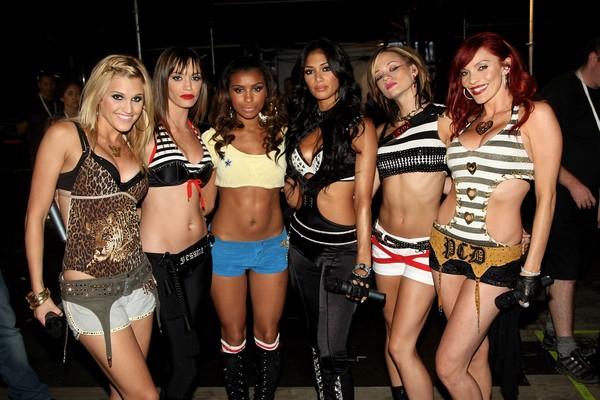 As cantoras do grupo Pussycat Dolls em foto de 2007 (Foto: Getty Images)