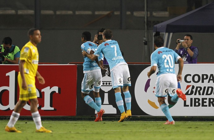 Sporting Cristal 1 x 1 Deportivo Táchira Libertadores (Foto: Reuters)
