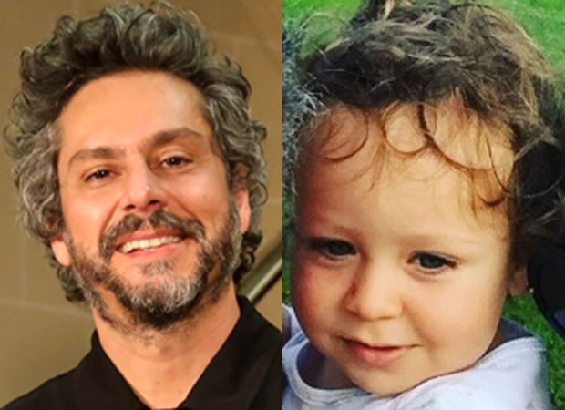 Alexandre Nero babou pelo filho Noá (Foto: Brazil News/ Roberto Filho e Reprodução Instagram)