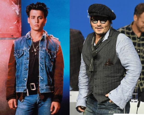 Johnny Depp, hoje aos 53 anos e na época de 'Anjos da Lei' (Foto: Getty Images/Divulgação)