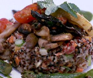 Risoto de quinoa com vegetais