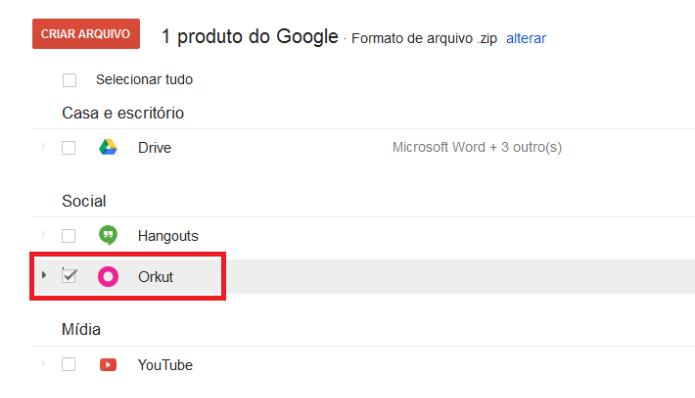 Lista de serviços do Google que você utiliza (Foto: Reprodução/Lívia Dâmaso)