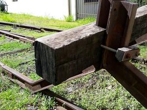 Monumentos e maquinários marcam a história da Estrada de Ferro Sorocabana (Foto: Stephanie Fonseca/G1)