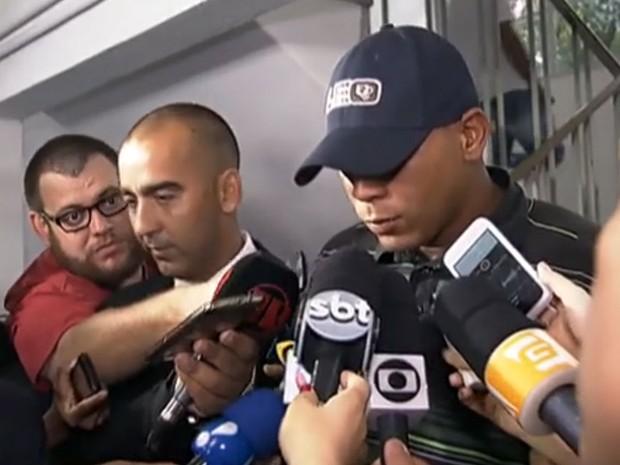 Motorista que atropelou 16 pessoas em São Paulo se apresenta à polícia e pede 'perdão' na delegacia (Foto: Reprodução TV Globo)
