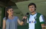 Novo lateral do Coxa, Cesar Benítez, visita o Couto Pereira