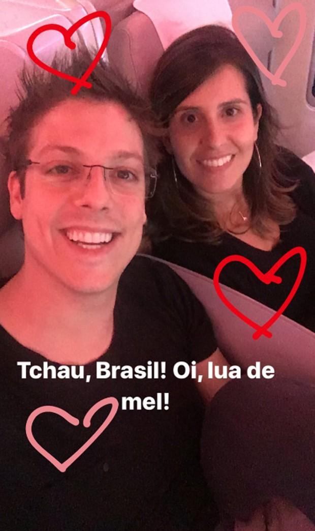 Fábio Porchat e Nataly Mega (Foto: Reprodução/Instagram)