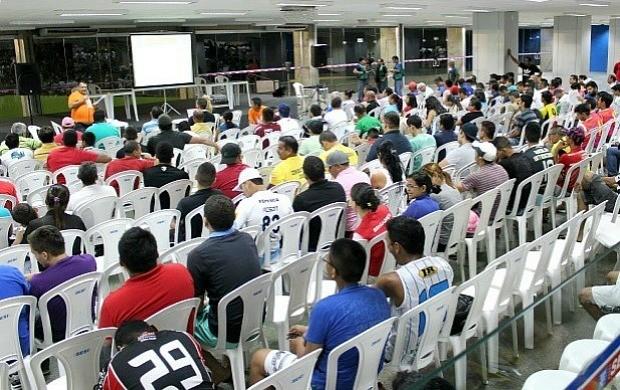 Congresso Técnico da Copa TV Amazonas de Futsal ocorreu nesta segunda-feira (3) (Foto: Adeilson Albuquerque/ Globoesporte.com)