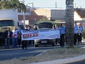 Greve transporte Uberaba (Foto: Reprodução / TV Integração)