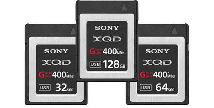 Atuais cartões de memória XQD, da Sony (Foto: Divulgação/Sony)
