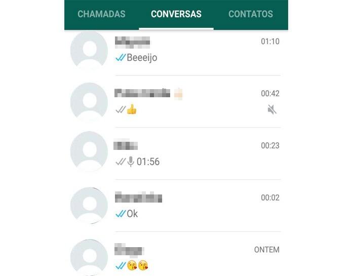 Abra a conversa que deseja no WhatsApp (Reprodução/Carol Danelli)