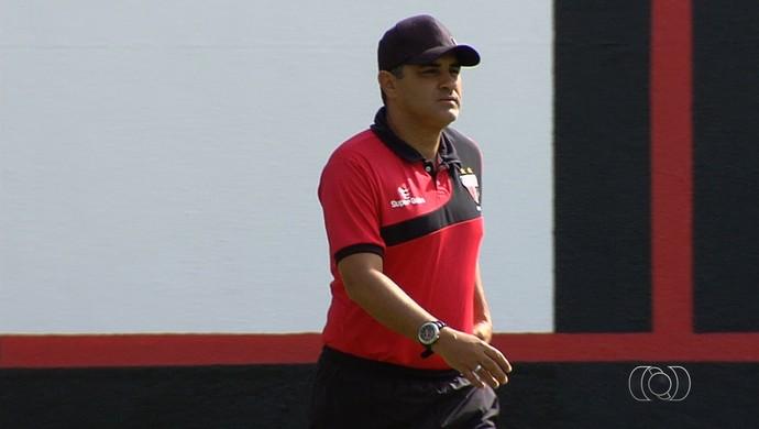 Marcelo Chamusca, técnico do Atlético-GO (Foto: Reprodução/TV Anhanguera)