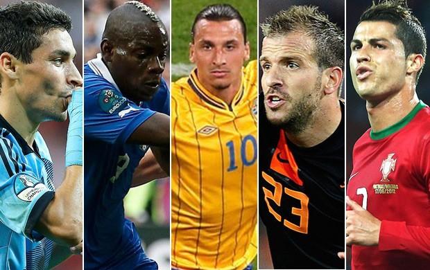 Montagem Gol mais bonito É Gol Eurocopa (Foto: Montagem SporTV)