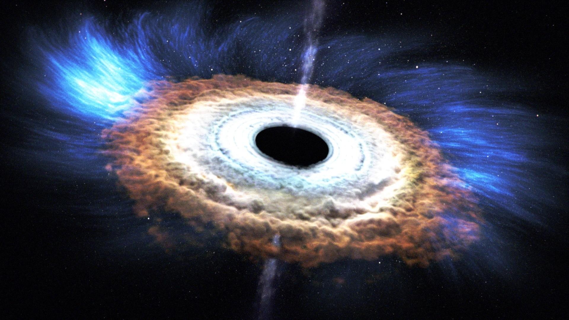 Representação da Nasa de um buraco negro (Foto: Nasa)