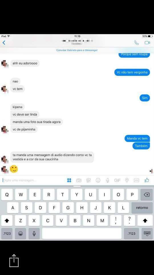 Print de conversa com suposto pedófilo em Vila Velha (Foto: Reprodução/ Facebook)