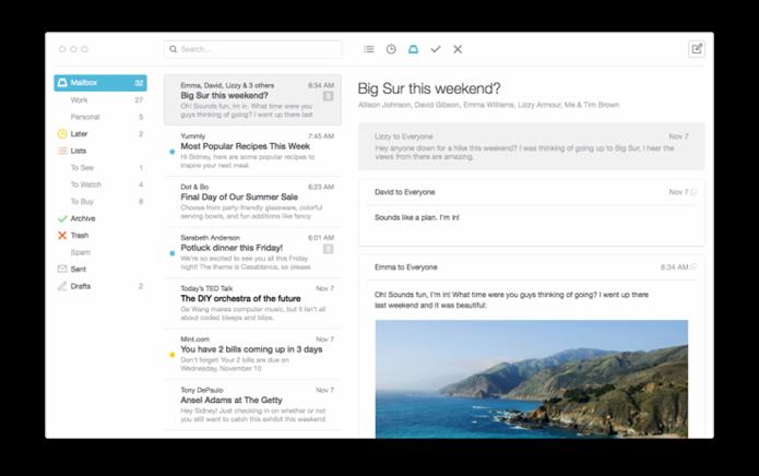 Mailbox  libera versão de testes para desktop (Foto: Divulgação/Mailbox)