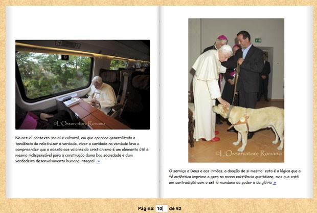 Página do álbum publicado pelo Vaticano (Foto: Reprodução)