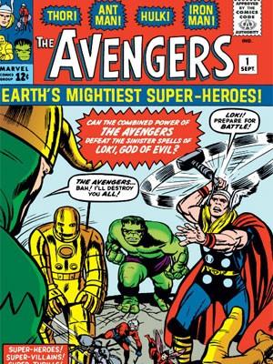Capa da primeira edição de 'Os vingadores', da Marvel (Foto: Divulgação)
