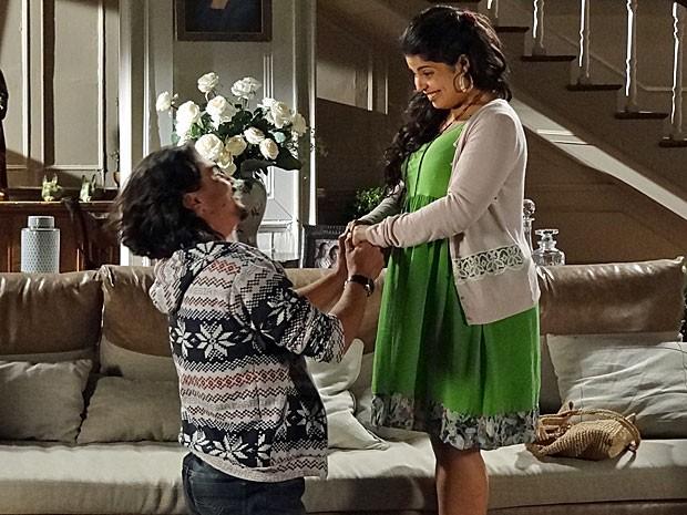 Pedro declara seu amor a Gracinha (Foto: Amor Eterno Amor/TV Globo)
