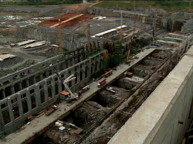 Obras da usina de Belo Monte/GNews (Foto: Reprodução GloboNews)