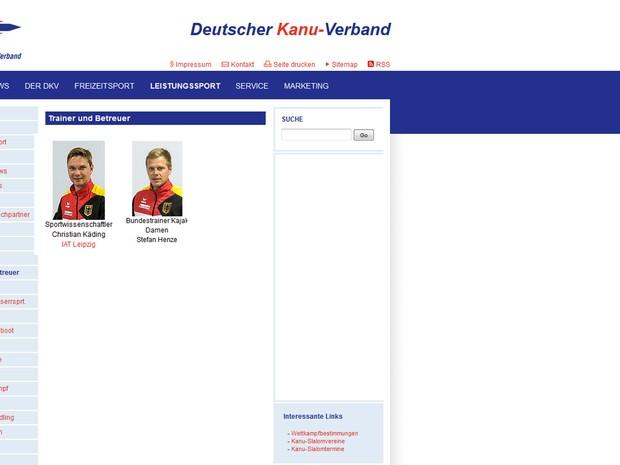 Stefan Henze é técnico e Cristian Katini é cientista esportivo do time de canoagem da Alemanha (Foto: Reprodução)