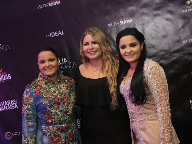 Marilia Mendonça com Maiara e Maraisa em show na Barra da Tijuca, Zona Oeste do Rio (Foto: Fábio Moreno/ Ag. News)