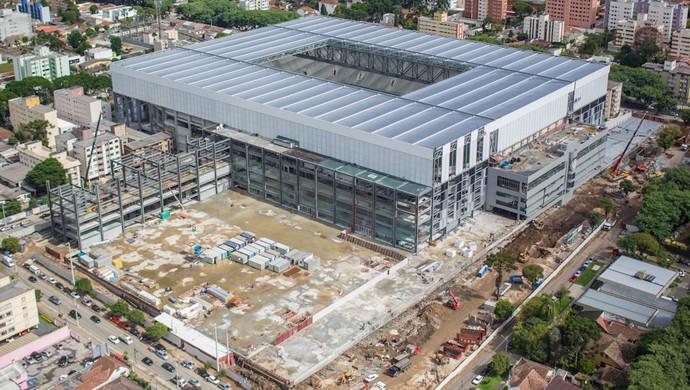 Imagem aérea da Arena da Baixada, do Atlético-PR, em março de 2014 (Foto: Site oficial do Atlético-PR/Alexandre Carnieri/Studio Gaea)