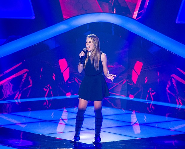 Nonô Lellis canta no The Voice Brasil (Foto: Isabella Pinheiro/ Gshow)
