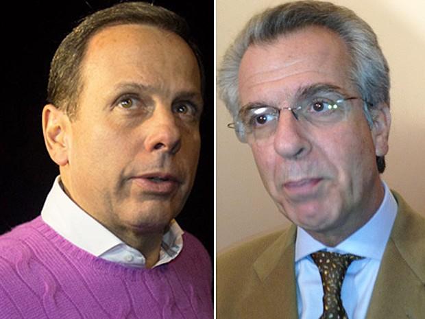João Dória Jr e Andrea Matarazzo, pré-candidatos do PSDB para as eleições municipais de São Paulo (Foto: Leonardo Benassatto/Estadão Conteúdo e Letícia Macedo/G1)