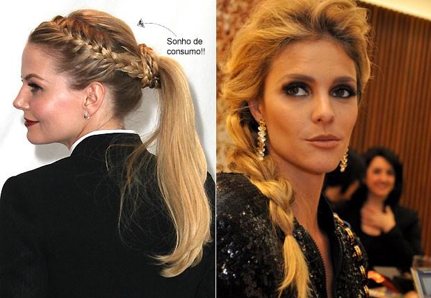 Esses são os dois penteados que vamos fazer! (Foto: Getty Images e Agnews)