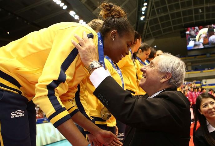 Fabiana é escolhida a MVP da Copa dos Campeões (Foto: FIVB / Divulgação)