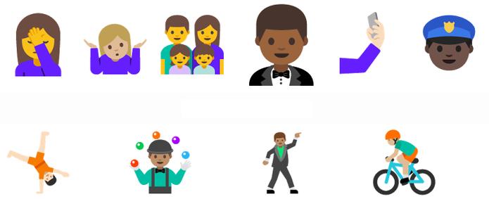 Emojis do Android N (Foto: Divulgação/Google)