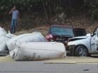 Sacos de café caem em carros e deixam seis pessoas feridas em MG