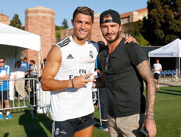David Beckham cristiano ronaldo real madrid (Foto: Divulgação/Site Oficial Real Madrid)