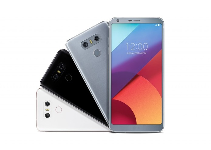 LG G6 está disponível em três cores (Foto: Divulgação/LG)