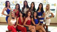 Bate-bola descontraído com as candidatas do concurso (TV Anhanguera)
