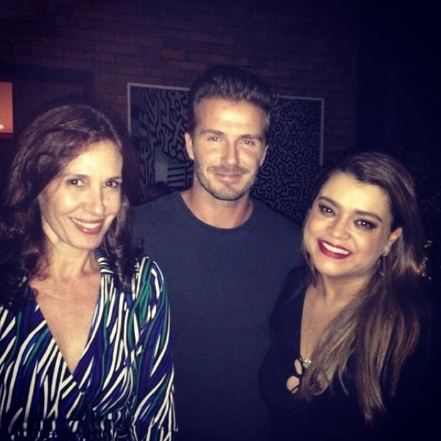 Flora Gil, David Beckhan e Preta Gil (Foto: Reprodução do Instagram)