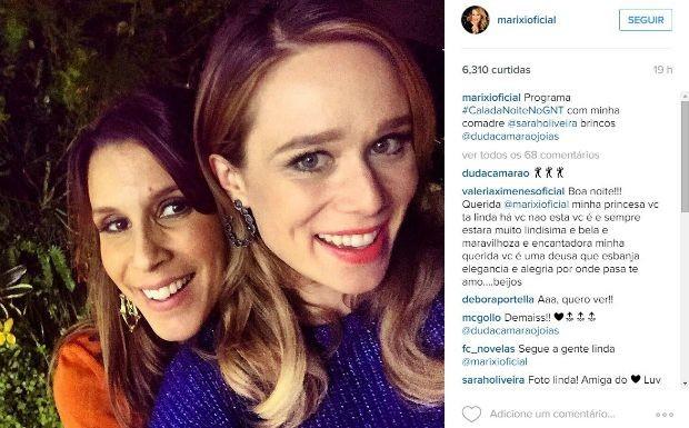 Mariana Ximenes grava nova temporada de programa com Sarah Oliveira em sua casa na Gvea (Foto: Reproduo / Instagram)