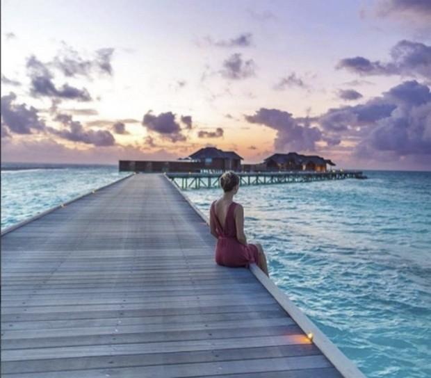 Hotel nas maldivas está oferecendo um tour 'instagramável' para seus visitantes (Foto: Instagram/@Conrad_maldives)