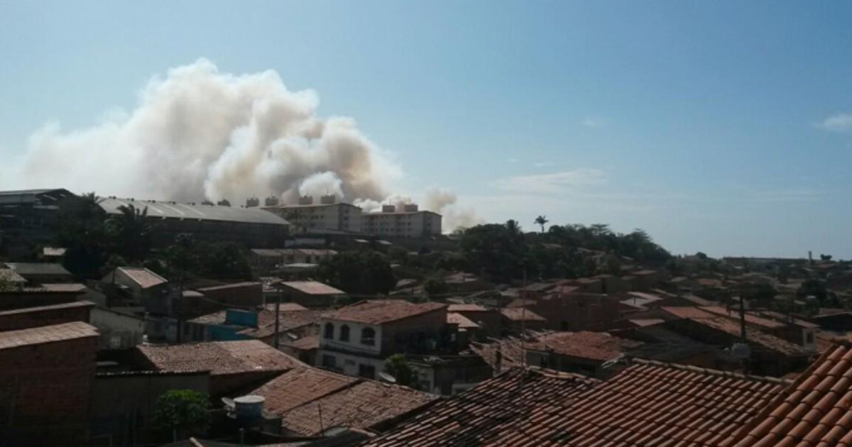 Reserva ambiental do Batalhão do Exército pega fogo em São Luís ... - Globo.com
