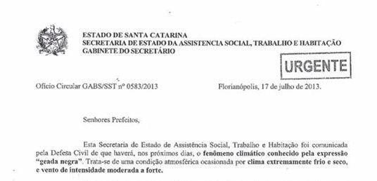 Documento foi enviado para prefeituras (Foto: Divulgação)