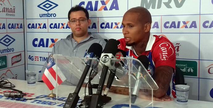 Wellington Silva; Bahia; Pedro Henriques (Foto: Divulgação/E.C. Bahia)