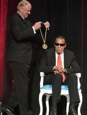 Muhammad Ali durante cerimônia em Louisville, nos EUA (Foto: Divulgação/Universidade de Louisville)