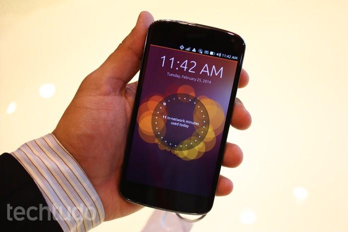 Testamos o Ubuntu OS no MWC 2014 (Foto: Allan Melo/TechTudo)