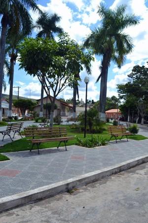 Praça em Serra da Saudade - MG (Foto: Adriana de Oliveira/Prefeitura de Serra da Saudade)