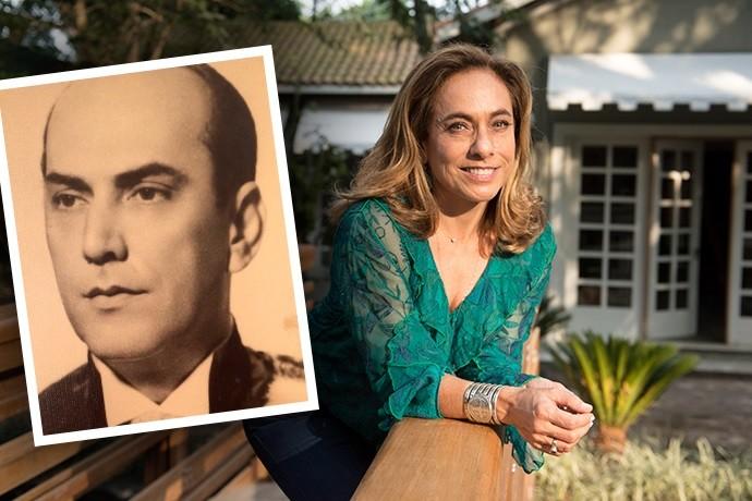 Cissa Guimarães e seu pai (Foto: Renato Rocha Miranda/TV Globo e Arquivo Pessoal)