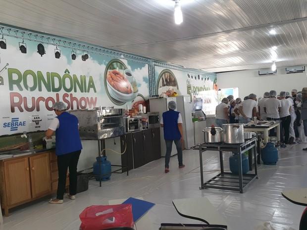 Stand do Sebrae montado na 5ª Rondônia Rural Show, em Ji-Paraná (Foto: Pâmela Fernandes/ G1)