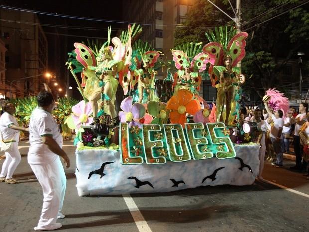 Leões da Vila Padre Anchieta é campeã do carnaval de Campinas, SP (Foto: Fernanda Sunega / Prefeitura)